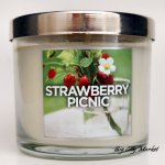 Bath and Body Works Strawberry Picnic Candle - 4 oz