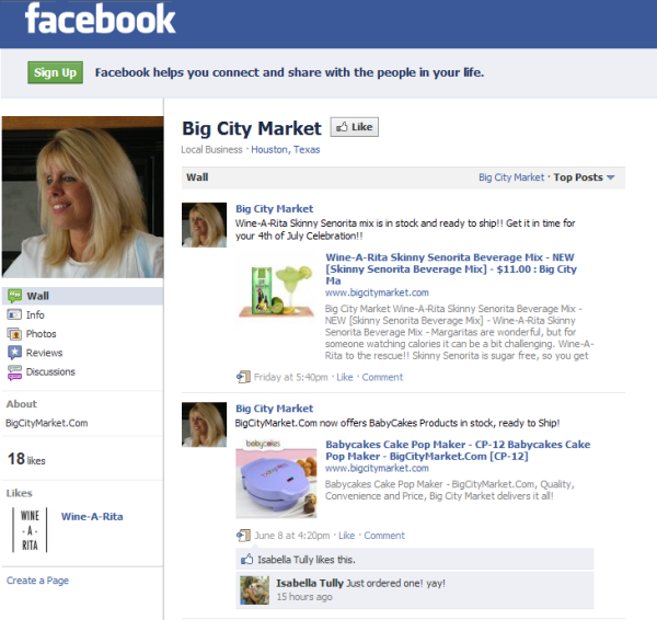 Big City Market Joins facebook