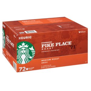 Starbucks Pike Place Medium Roast K Cups 72 Count
