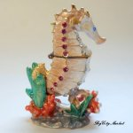 Welforth Seahorse Hinged Jewelry Box