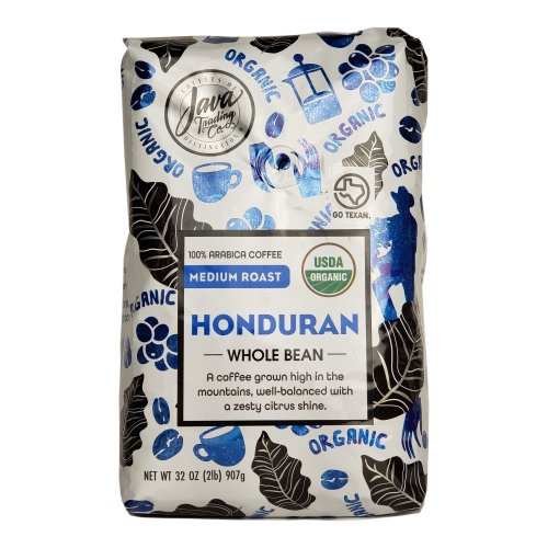 Java Trading Co. Honduran Whole Bean Coffee 2 Lbs - Click Image to Close