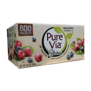 Pure Via Stevia Natural Sweetener 800 Ct