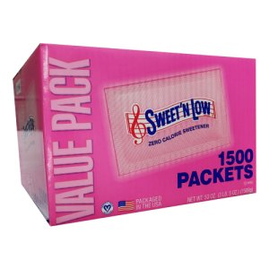Sweet'N Low Zero Calorie Sweetner 1500 ct Portion Packets